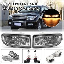For Toyota Land Cruiser 1998-2007 Pair 12V 55W Front Driving Fog Light Clear Len