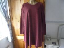 ABERCROMBIE & FITCH JUMPER DRESS SIZE LARGE DARK RED