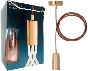 Plumen Pendant Drop Cap (V3) Copper Screw E26 Hanging Lighting Fixture Copper