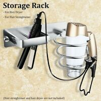 Hair Dryer Holder Blower Organizer Adhesive Wall Mounted Nail Free Spiral Stand
