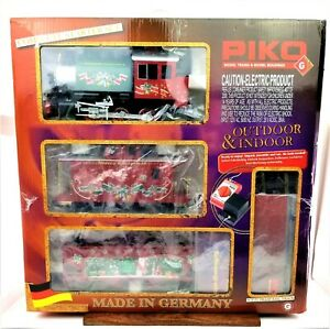 PIKO G Scale Christmas Freight Starter Set Analog Sound 120V - 38105 Germany NEW