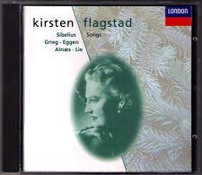 Kirsten FLAGSTAD: SIBELIUS GRIEG EGGEN ALNAES LIE Lieder CD Oivin Fjeldstad 1994