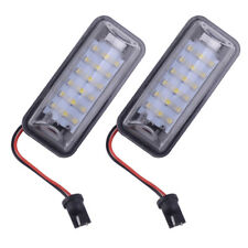 For Subaru BRZ Legacy Impreza Crosstrek 2Pcs 18LED 2.0W License Plate Light Lamp