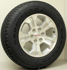 "New Takeoff GMC Yukon Sierra 18"" Wheels Rims Goodyear Tires Sensors Lug Nuts"
