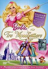 Dvd BARBIE E LE TRE MOSCHETTIERE Edizione Speciale Dvd + Cd Musicale .....NUOVO