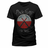 Pink Floyd T Shirt The Wall Hammers Logo Official Mens Black Classic Rock Merch