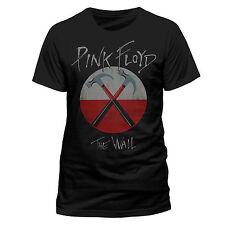 Pink Floyd T Shirt The Wall Hammers Logo Official Mens Black Classic Rock Merch