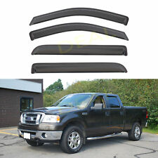 4pcs Outside Tape-On Vent Window Visors Fit 04-08 Mark LT/F150 Super Crew Cab