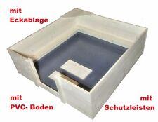 Wurfkiste Basic 120x120x40cm mit PVC und Schutzleisten Wurfbox Welpenkiste