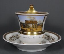 KPM Berlin Brandenburger Tor Tasse Prunktasse Ansichtentasse UT cup porcelain