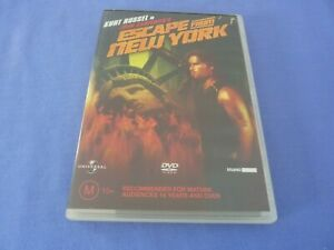 Escape From New York DVD Kurt Russell Lee Van Cleef R4 Free Postage