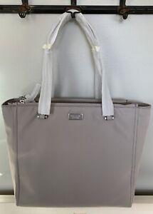 NWT KATE SPADE NEW YORK Dawn Nylon Medium Tote Bag Soft Taupe $279