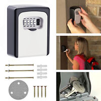 Weather Resistant 4 Digit Wall Mounted Combination Lock Key Safe Box Storage AU