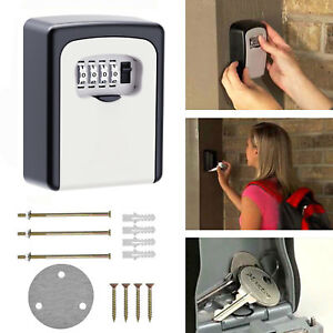 4-Digit Combination Lock Key Safe Storage Box Padlock Security Home Gate Coffer