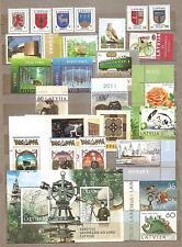 2011 Latvia  FULL YEAR SET CHRISTMAS ,BIRD, ANIMAL , SHIP,TRAIN,  GEOLOGY MNH