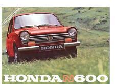Honda N600 folleto de ventas + Autosport prueba de carretera tarde 60's
