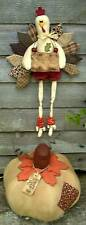 PRIMITIVE FOLK ART SEWING PATTERN 'THANKSGIVING' KENTUCKY TURKEY & PUMPKIN