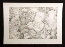 Lucien P. Moretti, #4 P. 48 Un Sac de Billes Signed b&w Lithograph, Make Offer!