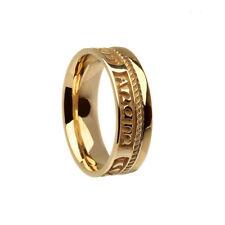 10K Yellow Gold Soulmate Mo Anam Cara Wedding Ring 7 mm size 8 or 9.75 IRISH