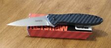 KERSHAW New Ken Onion Design Carbon Fiber Handle Leek Plain Blade Knife/Knives