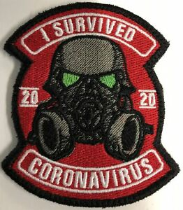 I Survived Corona  2020 (a) Embroidered Patch
