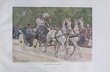Kaiser Franz Josef I. im Leibwagen von Ludwig Koch - Kunstblatt aus 1924 Druck