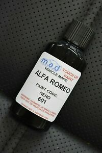 ALFA ROMEO 601 BLACK NERO 30ML TOUCH UP KIT REPAIR KIT PAINT WITH BRUSH GIULIA