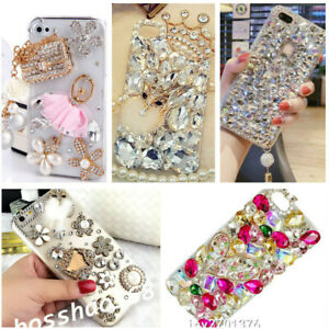 For Huawei P20 Lite P30 Pro Bling Diamond Rhinestones soft clear back Case Cover