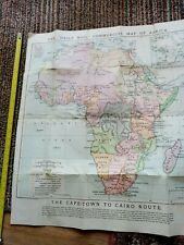 the daily mail commercial map of africa,3rd edition,circa 1890's