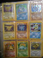 Original Pokemon Lot Base Set Jungle, Fossil,HOLO,SHADOWLESS,1ST EDITION 10Cards