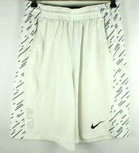 Nike Elite White Basketball Shorts Size M