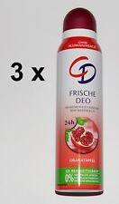 CD Frische Deo Granatapfel  Deo Spray 3 x 150ml   ohne Aluminiumsalze