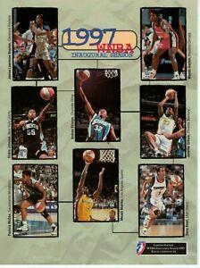 1997 HOUSTON COMETS VS CLEVELAND ROCKERS LIMITED EDITION 8 OF 14 SCORECARD