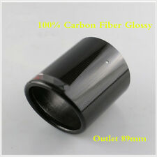 1PCS Carbon Fiber Exhaust pipe Cover Exhaust Muffler Pipe Tip Cover Outlet 89mm