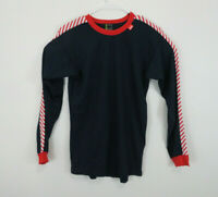 Helly Hansen Lifa Ski Top Base Layer Red White Blue Stripe Long Sleeve Mens L