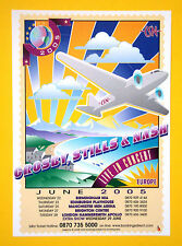 Crosby, Stills & Nash Live in Europe 2005 UK A5 tour flyer - ideal for framing!