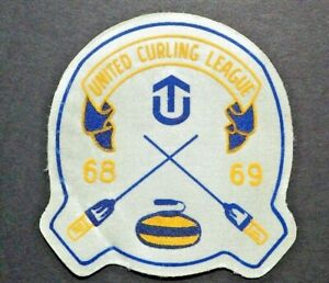 RARE Curling Patch - United Curling League 68 / 69