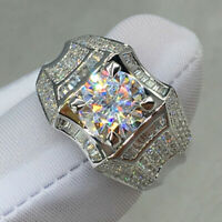 Gorgeous Rings for Men/Women 925 Silver,Rose Gold White Sapphire Ring Size 6-10