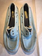 Sperry Top Sider Bahama Mens Blue Canvas Boat Shoes Size 11M