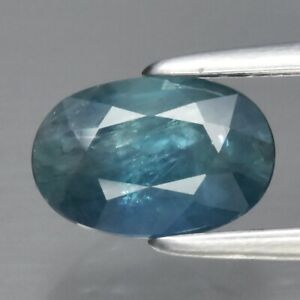 1.09ct 7.2x4.8mm Oval Natural Bluish Green Sapphire Australia, Heated Only