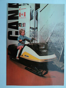 Commonwealth Institute large old colour PC Canadian Exhibition, Skidoo. Unposted
