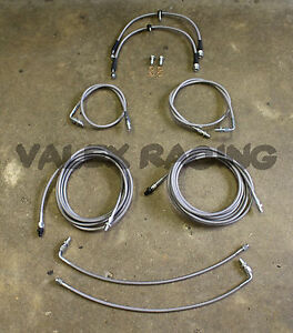 Front & Rear Brake Line Replacement Kit For 96-00 Honda Civic w/rear drum