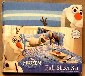 SPONGE BOB TWIN, JAKE THE PIRATE TWIN & FROZEN (OLAF) FULL SHEET SETS 3 STYLES B