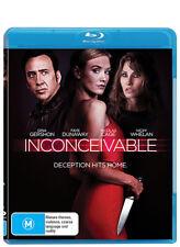 Inconceivable (Brand New Blu-ray, 2018) Nicolas Cage & Nicky Whelan