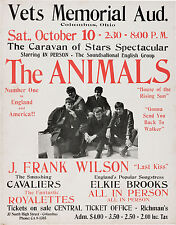 "The Animals Columbus Ohio 16"" x 12"" Photo Repro Concert Poster"