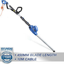 More details for hedge trimmer electric pruner corded long reach pole 10m cable hyundai