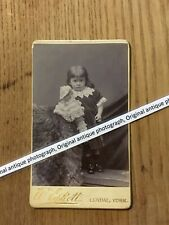 More details for antique victorian photograph of cute girl holding antique doll taken in york.