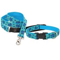 """NEW Sea Turtle Reef Blue Dog Collar or Leash in 1"""", 3/4"""" or 1/2"""" by Lupine"""