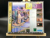 SimCity 2000 w/spine (Sega Saturn, 1995) from japan