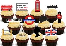 London Union Jack Mix Stand Up Premium Card Cake Toppers